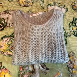 Zara knit  lightweight long grey sweater